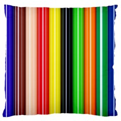 Colorful Striped Background Wallpaper Pattern Standard Flano Cushion Case (One Side)