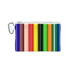 Colorful Striped Background Wallpaper Pattern Canvas Cosmetic Bag (s)