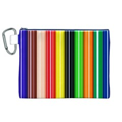 Colorful Striped Background Wallpaper Pattern Canvas Cosmetic Bag (xl)