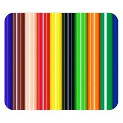 Colorful Striped Background Wallpaper Pattern Double Sided Flano Blanket (small)