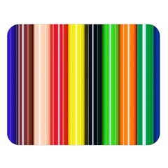 Colorful Striped Background Wallpaper Pattern Double Sided Flano Blanket (large)