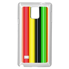 Colorful Striped Background Wallpaper Pattern Samsung Galaxy Note 4 Case (White)