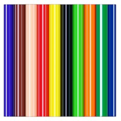 Colorful Striped Background Wallpaper Pattern Large Satin Scarf (Square)