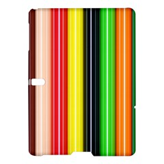 Colorful Striped Background Wallpaper Pattern Samsung Galaxy Tab S (10.5 ) Hardshell Case