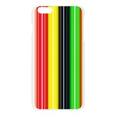 Colorful Striped Background Wallpaper Pattern Apple Seamless iPhone 6 Plus/6S Plus Case (Transparent)
