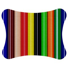 Colorful Striped Background Wallpaper Pattern Jigsaw Puzzle Photo Stand (Bow)