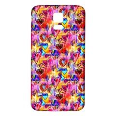 Spring Hearts Bohemian Artwork Samsung Galaxy S5 Back Case (white)