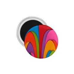 Modern Abstract Colorful Stripes Wallpaper Background 1 75  Magnets
