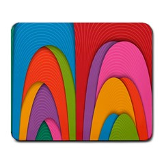Modern Abstract Colorful Stripes Wallpaper Background Large Mousepads