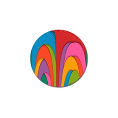 Modern Abstract Colorful Stripes Wallpaper Background Golf Ball Marker