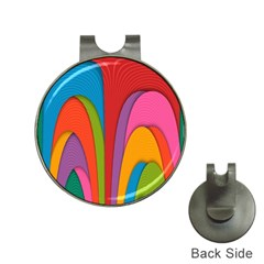 Modern Abstract Colorful Stripes Wallpaper Background Hat Clips With Golf Markers