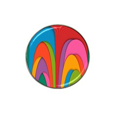 Modern Abstract Colorful Stripes Wallpaper Background Hat Clip Ball Marker (10 Pack)