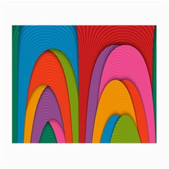 Modern Abstract Colorful Stripes Wallpaper Background Small Glasses Cloth