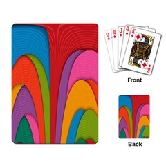 Modern Abstract Colorful Stripes Wallpaper Background Playing Card