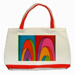 Modern Abstract Colorful Stripes Wallpaper Background Classic Tote Bag (red)
