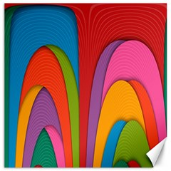 Modern Abstract Colorful Stripes Wallpaper Background Canvas 12  x 12
