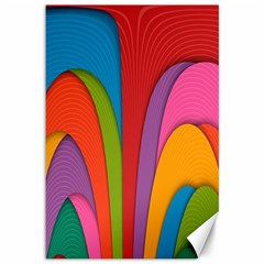 Modern Abstract Colorful Stripes Wallpaper Background Canvas 12  x 18