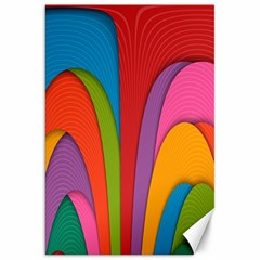 Modern Abstract Colorful Stripes Wallpaper Background Canvas 20  x 30
