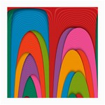 Modern Abstract Colorful Stripes Wallpaper Background Medium Glasses Cloth (2-Side) Back