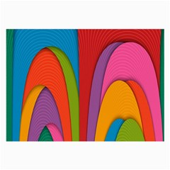 Modern Abstract Colorful Stripes Wallpaper Background Large Glasses Cloth (2-Side)