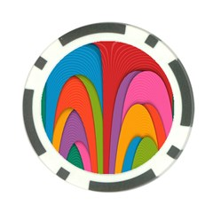 Modern Abstract Colorful Stripes Wallpaper Background Poker Chip Card Guard