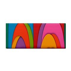 Modern Abstract Colorful Stripes Wallpaper Background Cosmetic Storage Cases