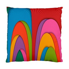 Modern Abstract Colorful Stripes Wallpaper Background Standard Cushion Case (two Sides)