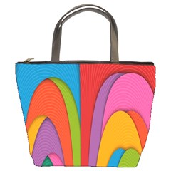 Modern Abstract Colorful Stripes Wallpaper Background Bucket Bags