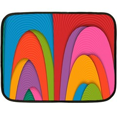 Modern Abstract Colorful Stripes Wallpaper Background Double Sided Fleece Blanket (mini)