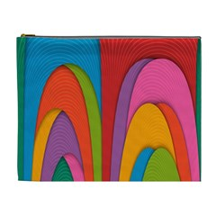 Modern Abstract Colorful Stripes Wallpaper Background Cosmetic Bag (xl)