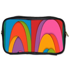 Modern Abstract Colorful Stripes Wallpaper Background Toiletries Bags