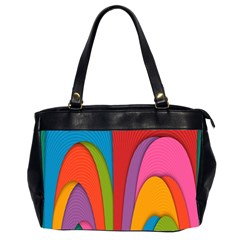 Modern Abstract Colorful Stripes Wallpaper Background Office Handbags (2 Sides)