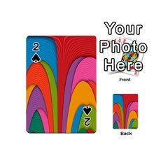 Modern Abstract Colorful Stripes Wallpaper Background Playing Cards 54 (mini)
