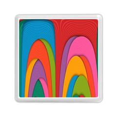 Modern Abstract Colorful Stripes Wallpaper Background Memory Card Reader (square)