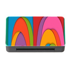 Modern Abstract Colorful Stripes Wallpaper Background Memory Card Reader With Cf
