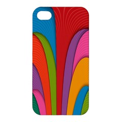 Modern Abstract Colorful Stripes Wallpaper Background Apple iPhone 4/4S Hardshell Case