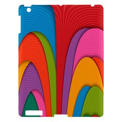 Modern Abstract Colorful Stripes Wallpaper Background Apple Ipad 3/4 Hardshell Case