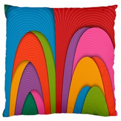 Modern Abstract Colorful Stripes Wallpaper Background Large Cushion Case (One Side)