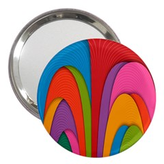 Modern Abstract Colorful Stripes Wallpaper Background 3  Handbag Mirrors
