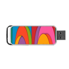 Modern Abstract Colorful Stripes Wallpaper Background Portable Usb Flash (two Sides)
