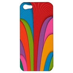 Modern Abstract Colorful Stripes Wallpaper Background Apple Iphone 5 Hardshell Case