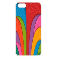 Modern Abstract Colorful Stripes Wallpaper Background Apple Iphone 5 Seamless Case (white)