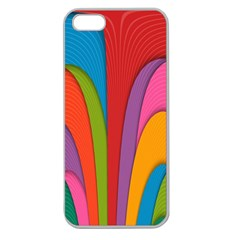 Modern Abstract Colorful Stripes Wallpaper Background Apple Seamless Iphone 5 Case (clear)