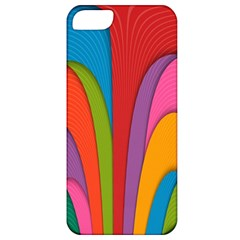 Modern Abstract Colorful Stripes Wallpaper Background Apple Iphone 5 Classic Hardshell Case