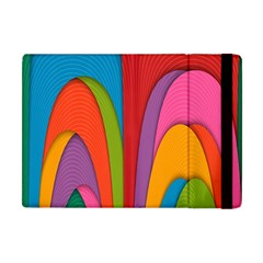 Modern Abstract Colorful Stripes Wallpaper Background Apple Ipad Mini Flip Case