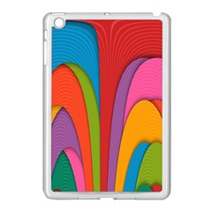 Modern Abstract Colorful Stripes Wallpaper Background Apple Ipad Mini Case (white)