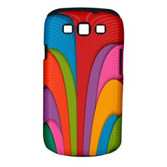 Modern Abstract Colorful Stripes Wallpaper Background Samsung Galaxy S III Classic Hardshell Case (PC+Silicone)