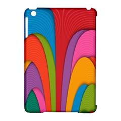 Modern Abstract Colorful Stripes Wallpaper Background Apple Ipad Mini Hardshell Case (compatible With Smart Cover)