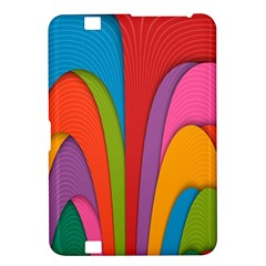 Modern Abstract Colorful Stripes Wallpaper Background Kindle Fire HD 8.9