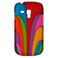 Modern Abstract Colorful Stripes Wallpaper Background Galaxy S3 Mini